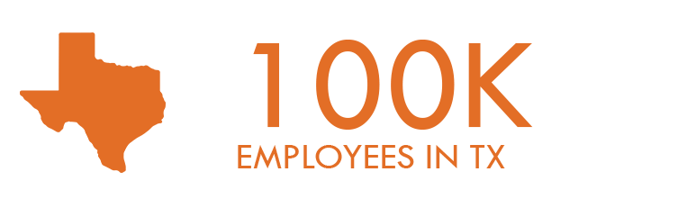 100K Employees in TX